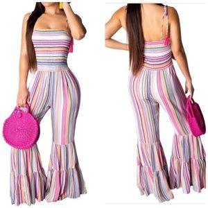 Pants - Stripe jumpsuit